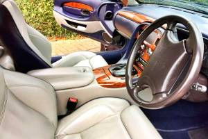 Interior of Aston Martin hire car